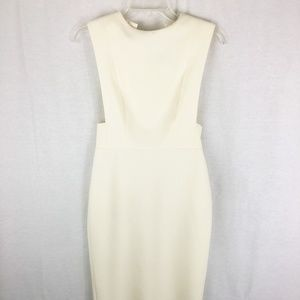 NWOT Topshop stretch cut out white dress